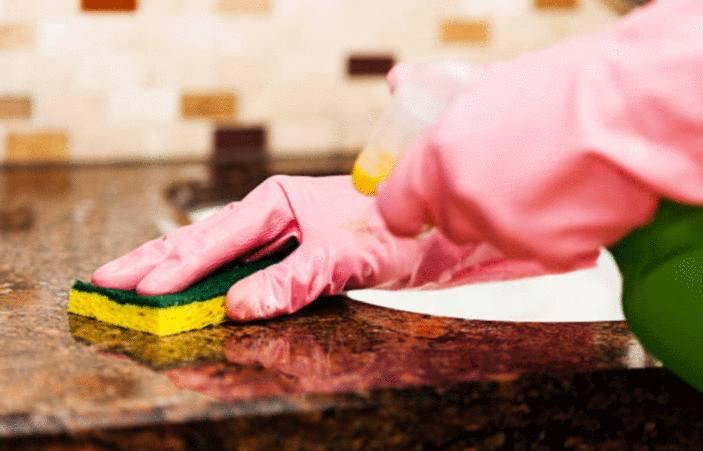 comment nettoyer plan de travail marbre ou granit